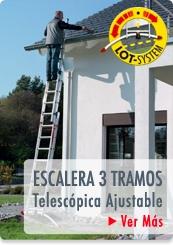 ESCALERAS PROFESIONALES TIJERA TELESCOPICA LOT SYSTEM - HAILO CHILE