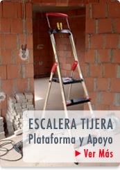 ESCALERAS DOMESTICAS TIJERA PLATAFORMA CON APOYO  - HAILO CHILE