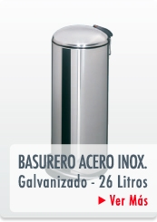 BASURERO PEDAL ACERO INOXIDABLE GALVANIZADO METAL - HAILO CHILE